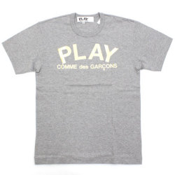 CDG 11S/S PLAY tee gray PLAY