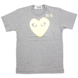 CDG 11S/S PLAY tee gray Big Heart