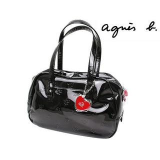 agnes b VOYAGE LOGO Embossed Boston Bag