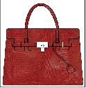 T.A.T.A. BABY Photo Print Bag (L) Lizard Red (PRE-ORDER)