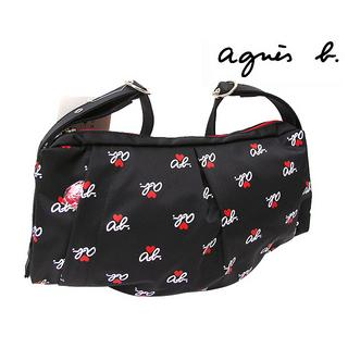 agnes b VOYAGE ab Heart Shoulder Bag