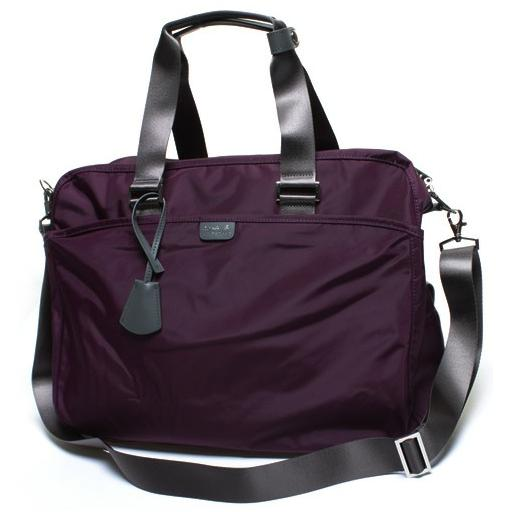 agnes b 2 way bag purple