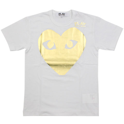 CDG 11S/S PLAY tee White Big Heart