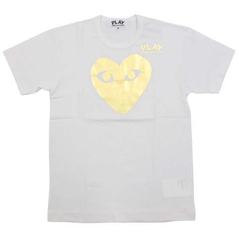 CDG 11S/S PLAY tee white