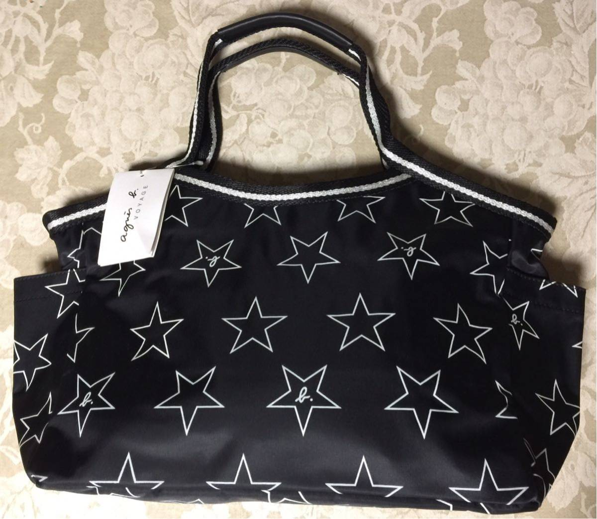 Agnes b tote bag (star)