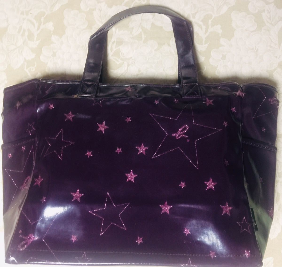 Agnes b tote bag (purple)