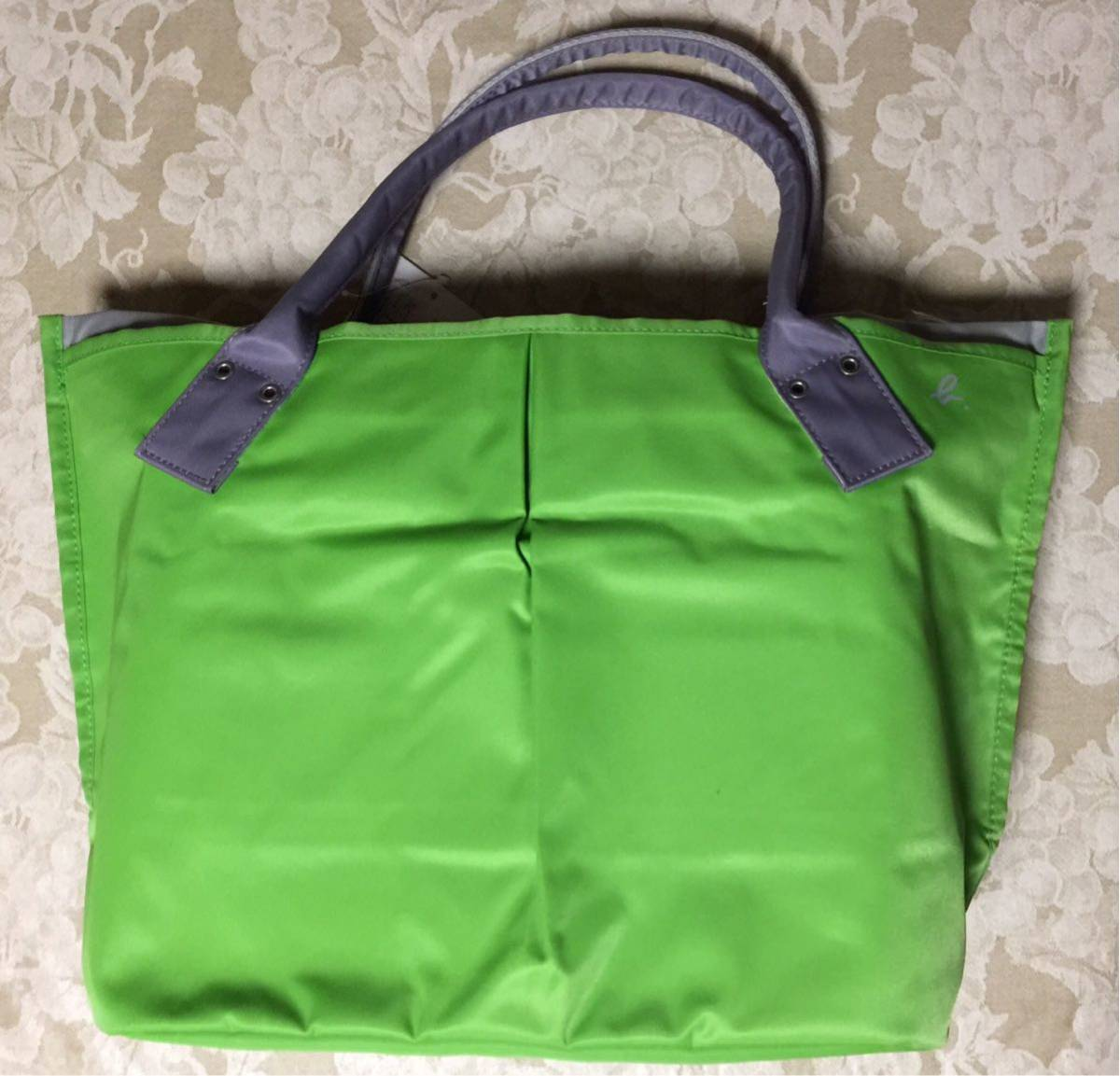 Agnes b tote bag (green)