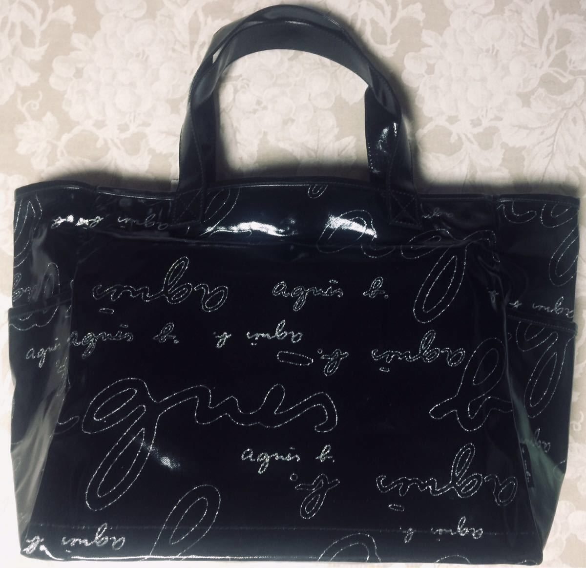 Agnes b tote bag (black)